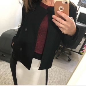 H&M Divided Pea Coat Jacket Blazer Cropped